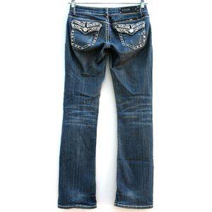 LA Idol Bootcut Thick Stitch Flap Pockets Sz 5